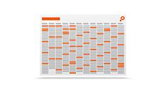 Impression de calendriers annuels en ligne